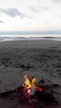 Cape Trib Beach House: camp fire
