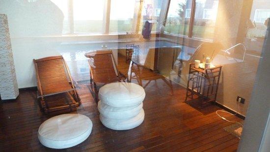 Alto Calafate Hotel Patagonico: zona relax, post masajes, sauna
