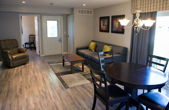 Super 8 Port Elgin: Apartment suite living area. Fully renovated in 2014