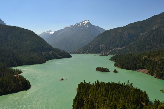 North Cascades Highway: Dioblo Lake Overlook