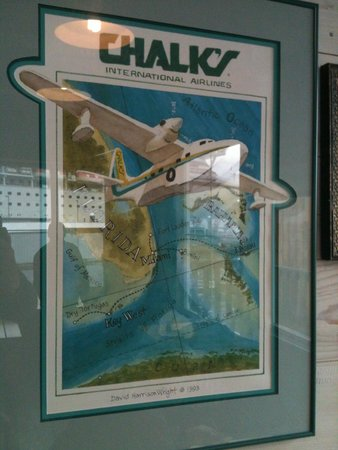 Alaska Fish House: Very old poster of Miami based CHALK's Seaplane airline, check comments for story