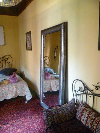 Riad Zarka: chambre verte