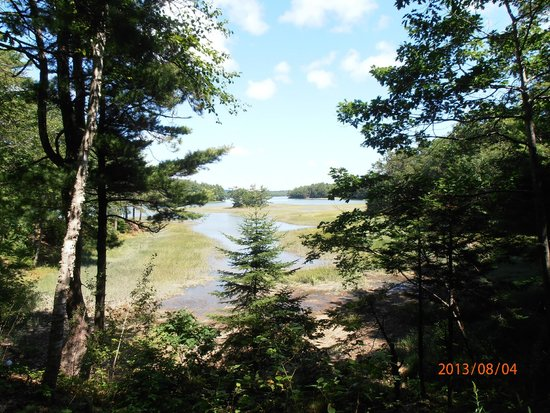 Shore Hills Campground: vue sur la baie