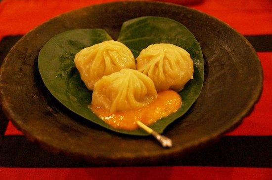 Dwarika's Hotel: Dwarika's momo (dumplings) - part of the feast