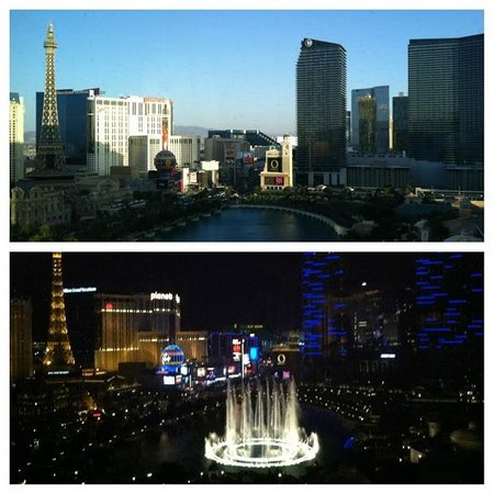 Caesars Palace: View out the window during the day and again at night. Amazing.