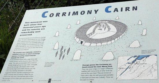 Corrimony Chambered Cairn: Infotafel