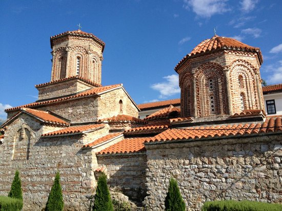 Monastery of Saint Naum: Sveti Naum Monastery roof over blue sky