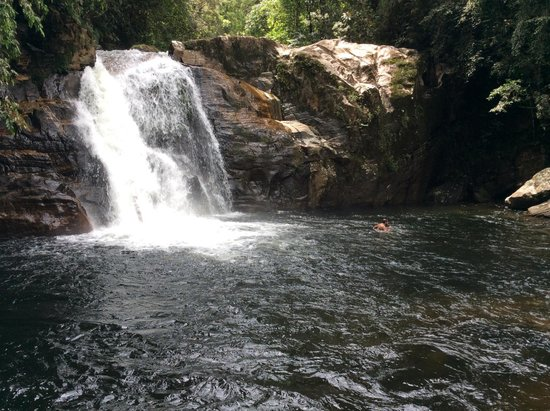 Sinharaja Forest Reserve: The waterfall