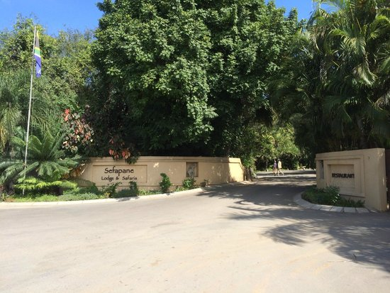 Sefapane Lodge and Safaris : Hotel entrance