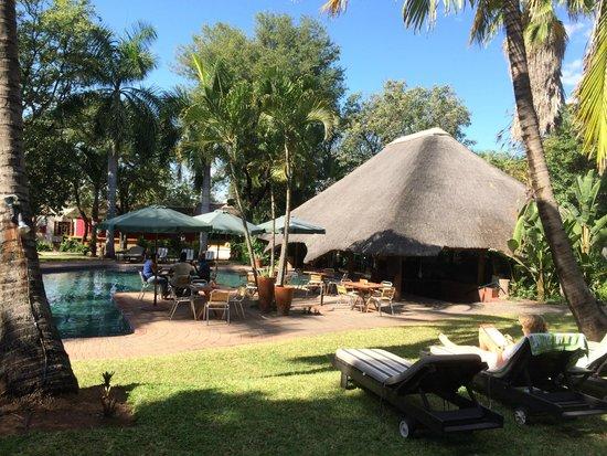 Aha Sefapane Lodge and Safaris: Pool area