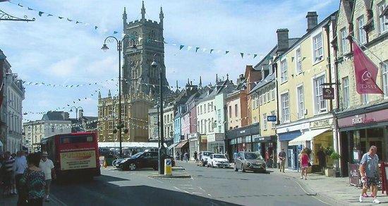 Parish Church of St John Baptist: Cirencester market place and Parish Church