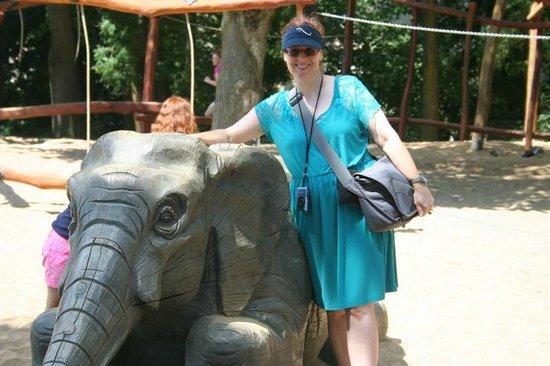 Kölner Zoo: Wife Enjoying Children's Playground
