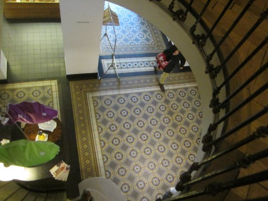 Krafft Basel: antique staircase and tiled floor