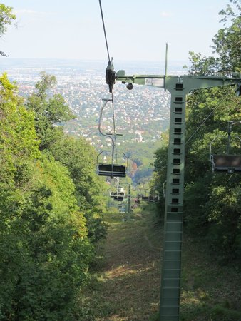 Children's Railway, Budapest: scary chairlift