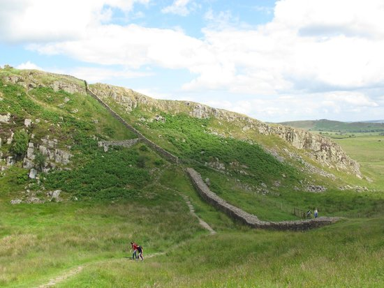 Hadrian's Wall: Starting point of the hike along the wall near Steel Rigg