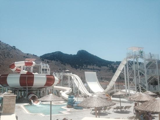 Atlantica Club Aegean Blue: the next door waterpark...fab!