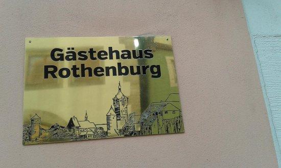 Gaestehaus Rothenburg: Indicazione