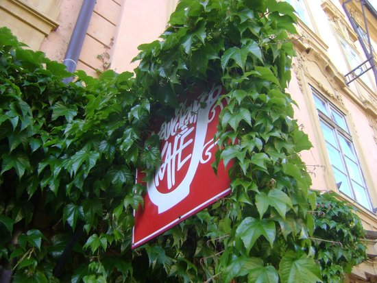 """U Zavesenyho Kafe: Entrance in the Springtime (Known to me as """"The Hanging Coffee """")"""