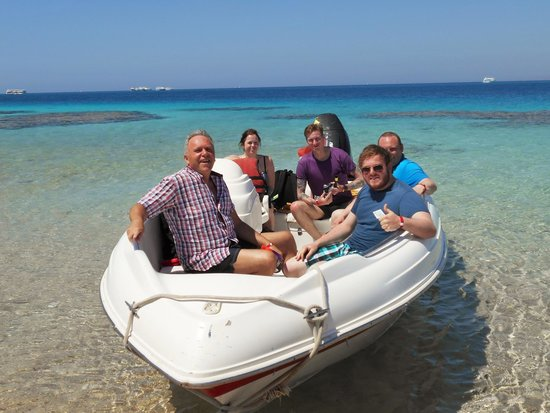 Xperience Sea Breeze Resort: On the VIP boat trip through Sinai