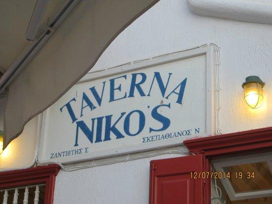 Niko's Taverna : insegna della taverna
