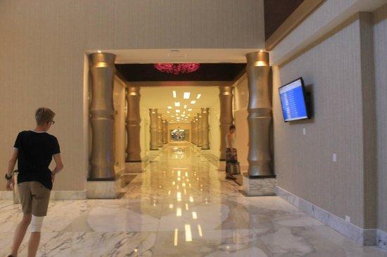 Moon Palace Cancun: Their hallway/lobby.
