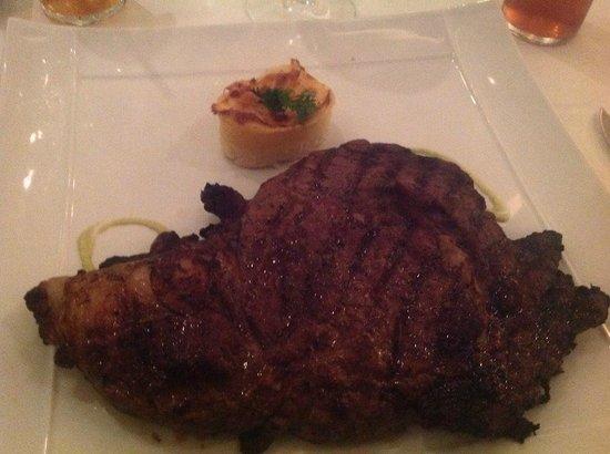 Iberostar Grand Hotel Rose Hall : Surf and Turf steak... IT was HUGGGGGGEEEEEEE!