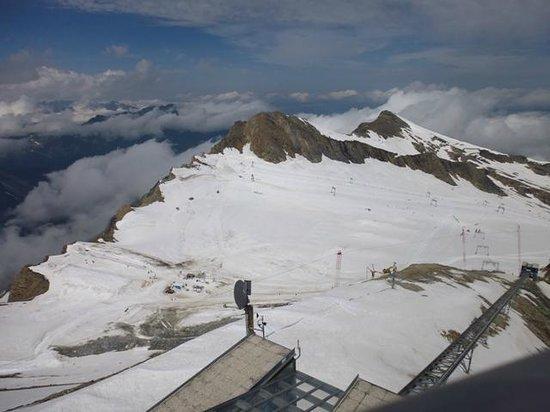 Kitzsteinhorn : Vista dos picos
