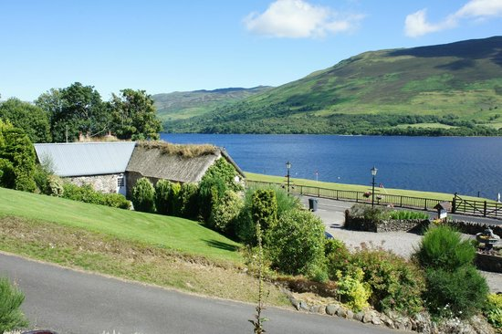 Briar Cottages: a view to the fine restored Briar Cottage House and the Loch Earn