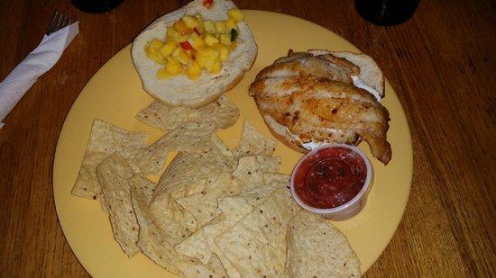 Cowgirl Kitchen: Grouper Sandwich with Mango Something