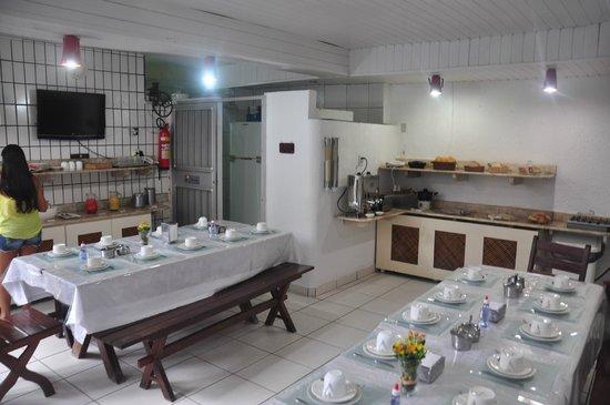 Pousada Meu Rancho : Área do Café da Manhã