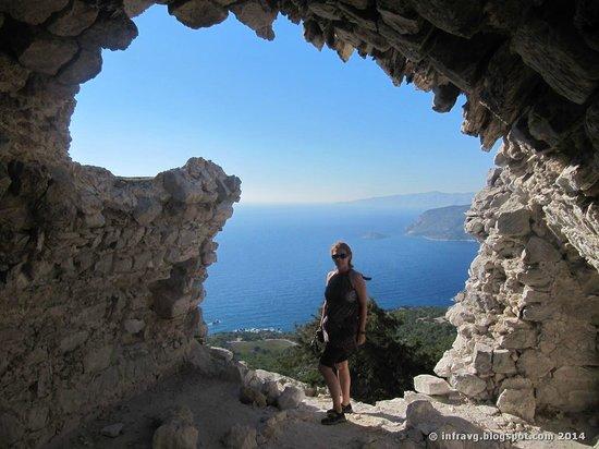 Monolithos Castle: En el castillo.