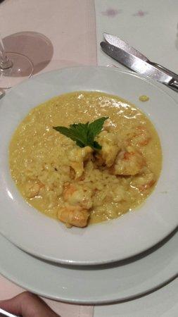Restaurante O velho e o Mar : Ristotto and shrimps