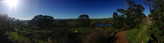 Bush and Beach: The Shire!  Gorgeous day for a tour of the Hobbiton. July 2014.