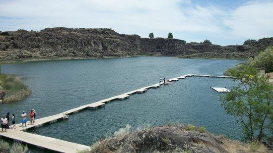 Shoshone Falls : Озеро рядом с Водопадом