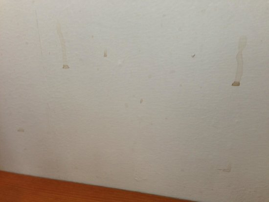 Britannia International Hotel: more stains on restaurant wall where I had my breakfast