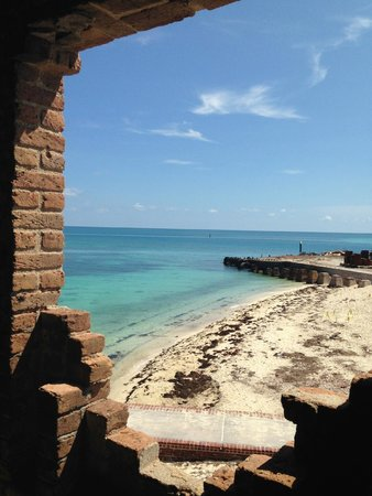 Fort Jefferson: looking out from the inside of the fort