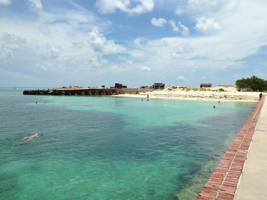 Fort Jefferson: on the moat wall