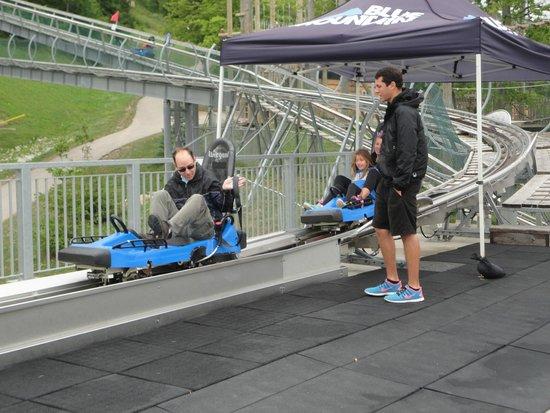 Ridge Runner Mountain Coaster : On my way up!