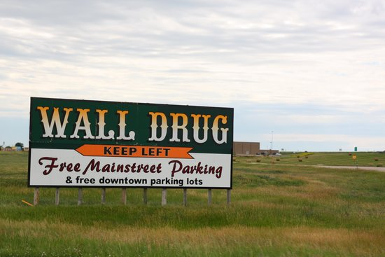 Wall Drug: One of the signs along the freeway