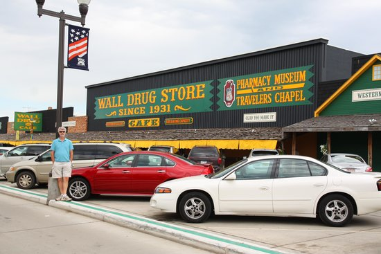 Wall Drug: Outside the store (it covers the entire block)