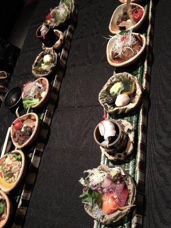 Mode Washoku Sasa Herbisplazaent: コースの「大名」長皿料理