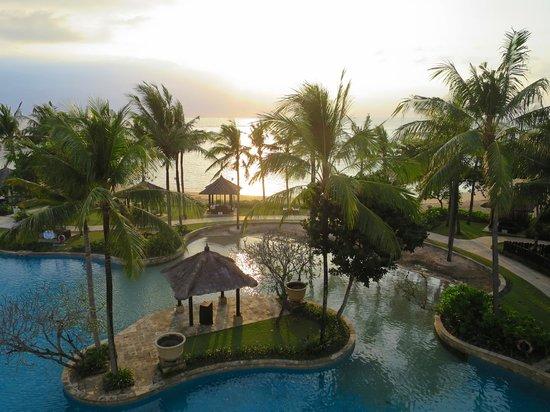 Conrad Bali: view from balcony