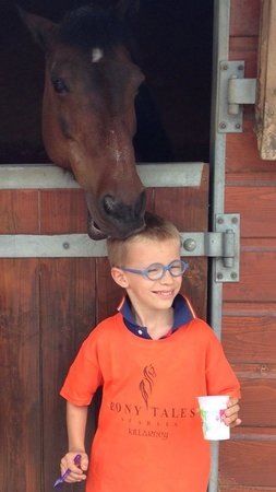 Pony Tales Stables: One of our Spanish riders having bonding time with the Winnie the pony  :)