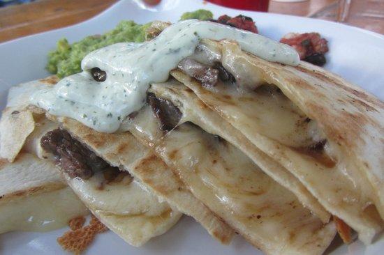 Base Camp Bar & Grill : Baja Quesadilla with Added Steak