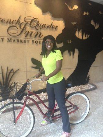 French Quarter Inn: A biking I will go