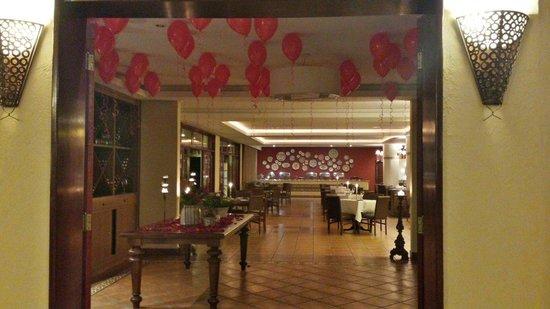 Villa di Mantova Resort Hotel: Uma das entradas do restaurante para o jantar!