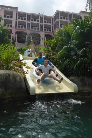 Centara Grand Beach Resort Phuket: Lazy river tube slide - awesome