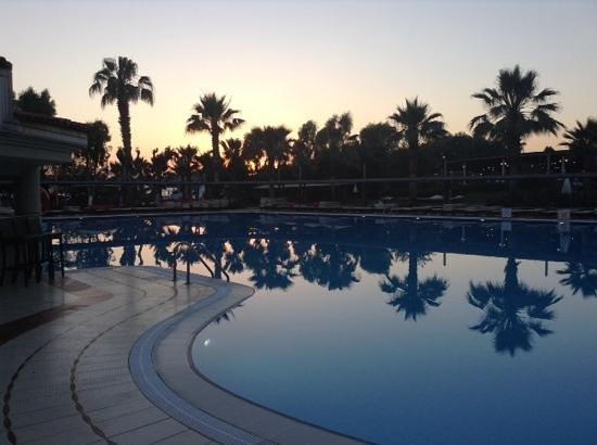 Club Tuana Fethiye: sunset by the pool