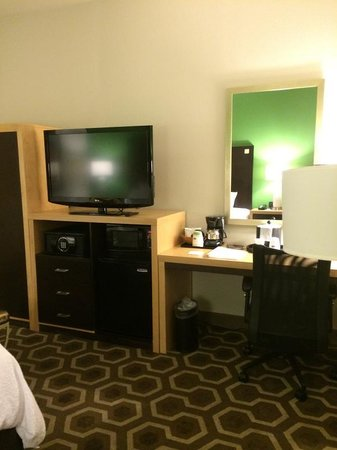 Hampton Inn & Suites New Orleans Downtown (French Quarter Area): Very big TV, safe, microwave & fridge