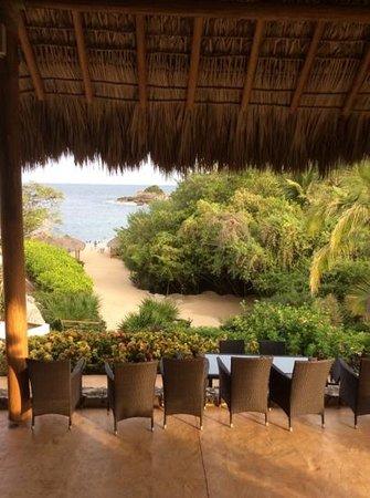 Ocean Huatulco: view from Ocean Bar - Cosmo Residences Huatulco